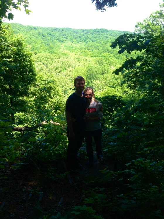 The hubby and I at Valley Overlook