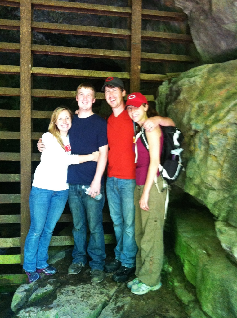 The four of us at Morgans Cave