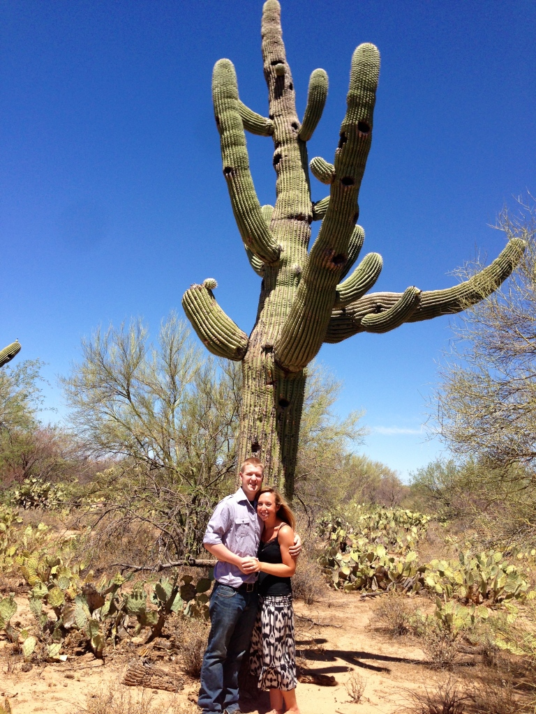 The HUGE Cactus that we saw! As a southern girl, who hasn't been any further West then Texas, is was my first time ever being around such a creation! And yes, for anyone who is wandering the needles on these plants are sharp and they will get stuck to your flowy skirt if you happen to get too close to them. lol