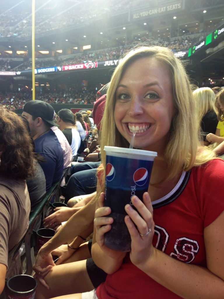 Normally I am a dye hard Coca-Cola girl but the air was so dry that it sucked the moisture right out of you.. leaving even the most devout consumers having to waver their loyalty.. it might have not been as refreshing as an ice cold coca cola but it  sure did quench my thirst lol