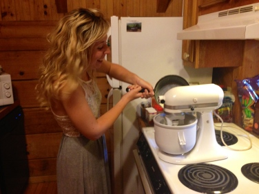 Making ice-cream with my new ice-cream attachment that Matt gave me for our two year anniversary!! WooHoo!