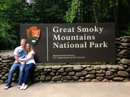 Of course we had to get a picture with the park sign! It's a classic!