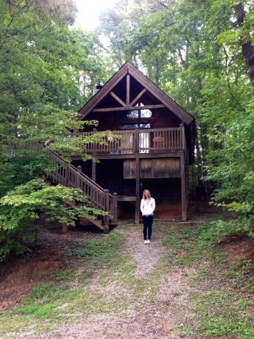 Me with Mountain Berry Cabin