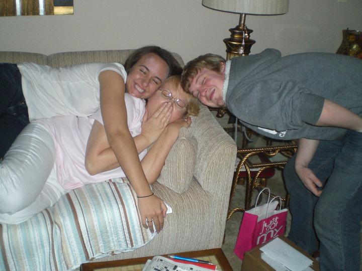 hugs for our sleeping mama