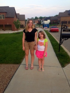 Taking an evening stroll with our Evie Rose and the rest of the family after a fun afternoon of swimming!