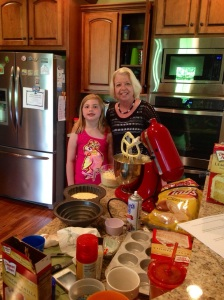 Birthday cake making with grandma after church!