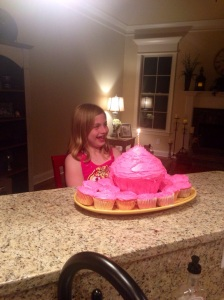 Getting ready to blow out her candles!