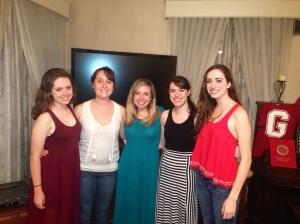 All us girls at Ciara and Savannah's Graduation party!