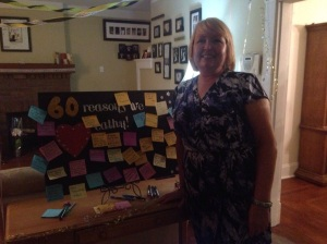 With her 60 reasons board!