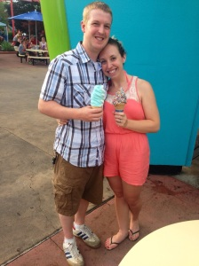 Blue Ice Cream treat! A Kings Island must!
