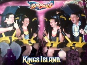 We road The Banchee for the first time ever together and it was awesome! Paige and I unknowingly make the same facial expressions lol :)