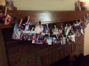 We decorated our mantle and other places in our home with special moments from Matt's life to celebrate!