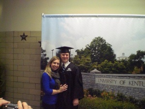 At Matt's graduation from UK in December 2011. This is one of the many moments I have been so honored to call myself Mrs. Pomeroy!