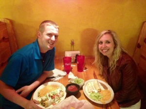At our favorite restaurant in Lexington, Rancho Tapatio!