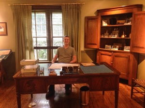 Playing boss man and sitting at the original desk of Mr. Samuels! The founder or Makers Mark!