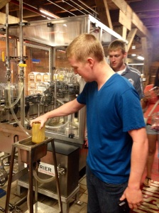 Jim Beam washes all their bottles in the Bourbon they will be filled with before filling them so that the product will not be watered down.