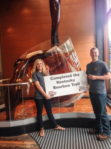 We officially finished The Kentucky Bourbon Trail together!!