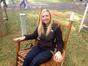 We LOVED these oversized rocking chairs!!!