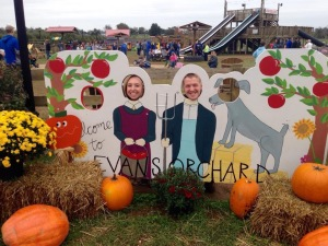 Hammin' it up and having fun at Evan's Orchard!