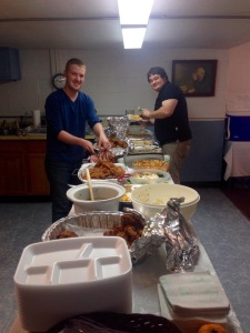Of course there was three pans of homemade Fried Chicken amid the plethora of other down home Southern food.