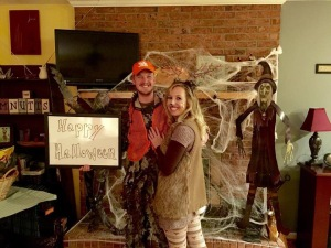 Our Halloween Costume this year: The Hunter and His Deer!