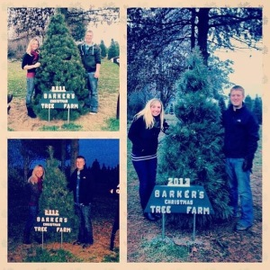 Our first 3 Christmas' with our Christmas tree picture from Barkers!