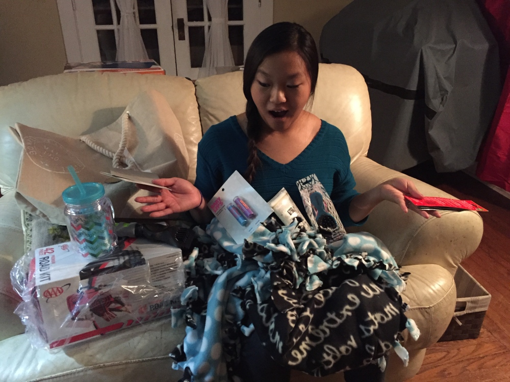 For Carrieli's sweet 16th we planned a very special car-themed birthday gift for her that included all the essentials she would need when she gets her first set of wheels.