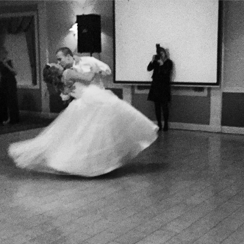 Mr. and Mrs. Bishop taking their first twirl around the dance floor as husband and wife!