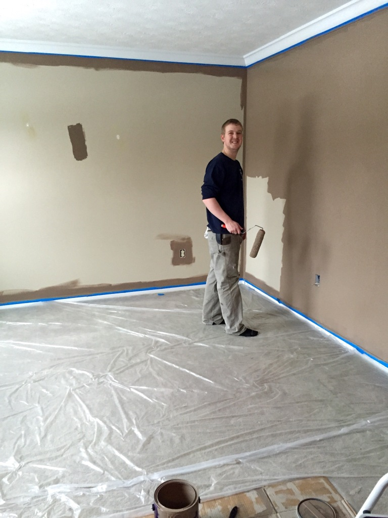 Painting the family room!