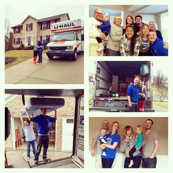 Recap picture of our big move! You can read more about that exciting time in the past series that we just finished up writing called: Turning Our House Into Our Home. :)