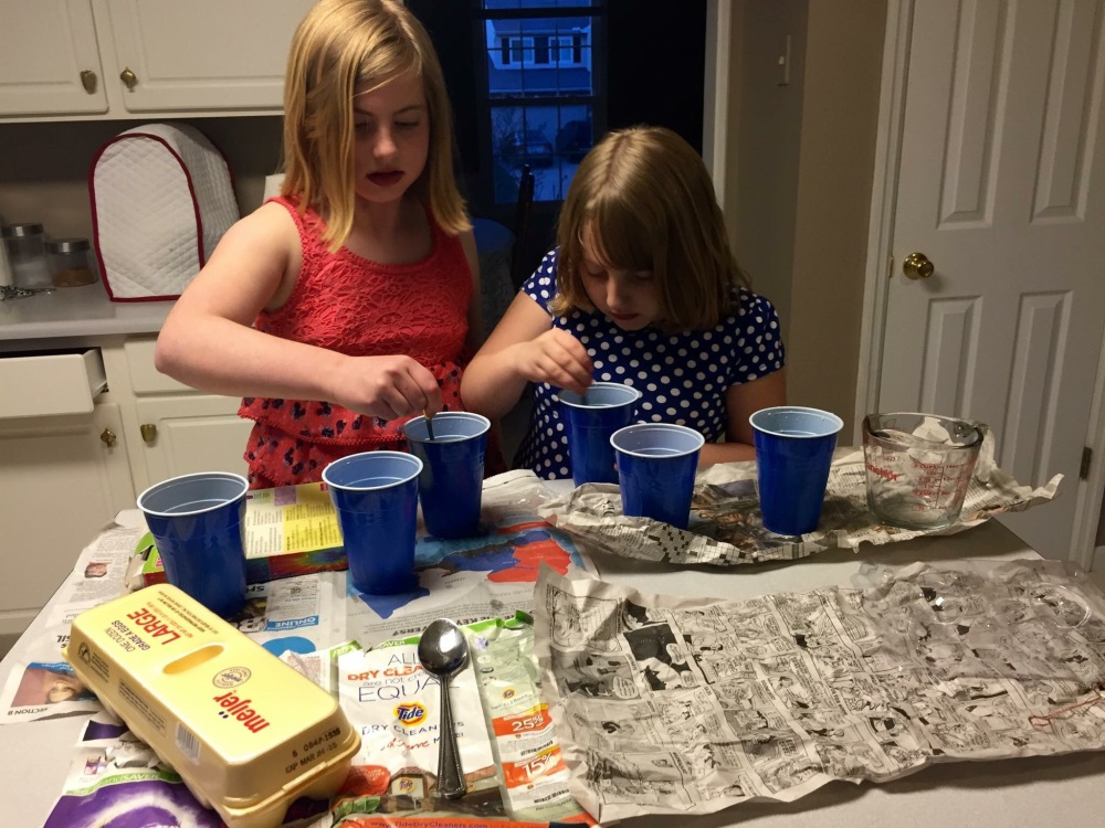These girls were experts at experimenting! :)