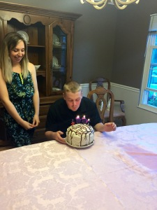 Singing happy birthday, blowing out the candles and making a wish! :)