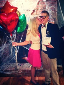 Halloween 2013. We went as Carl and Ellie from the movie UP!
