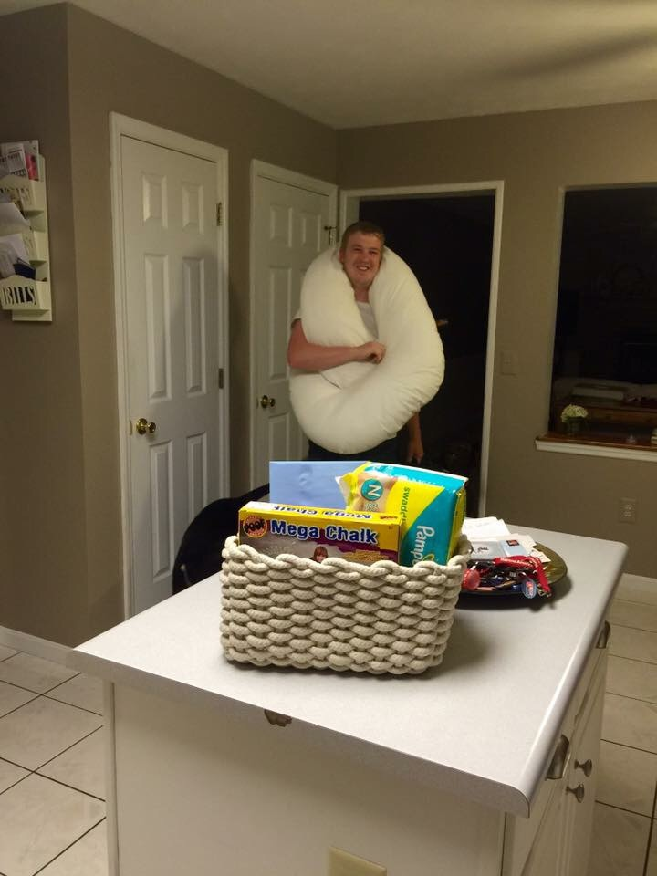 In true selfless, thoughtful form. Matt came walking down into our kitchen ready to load up the car for our trip to see his fathers day surprise from his two girls! :)