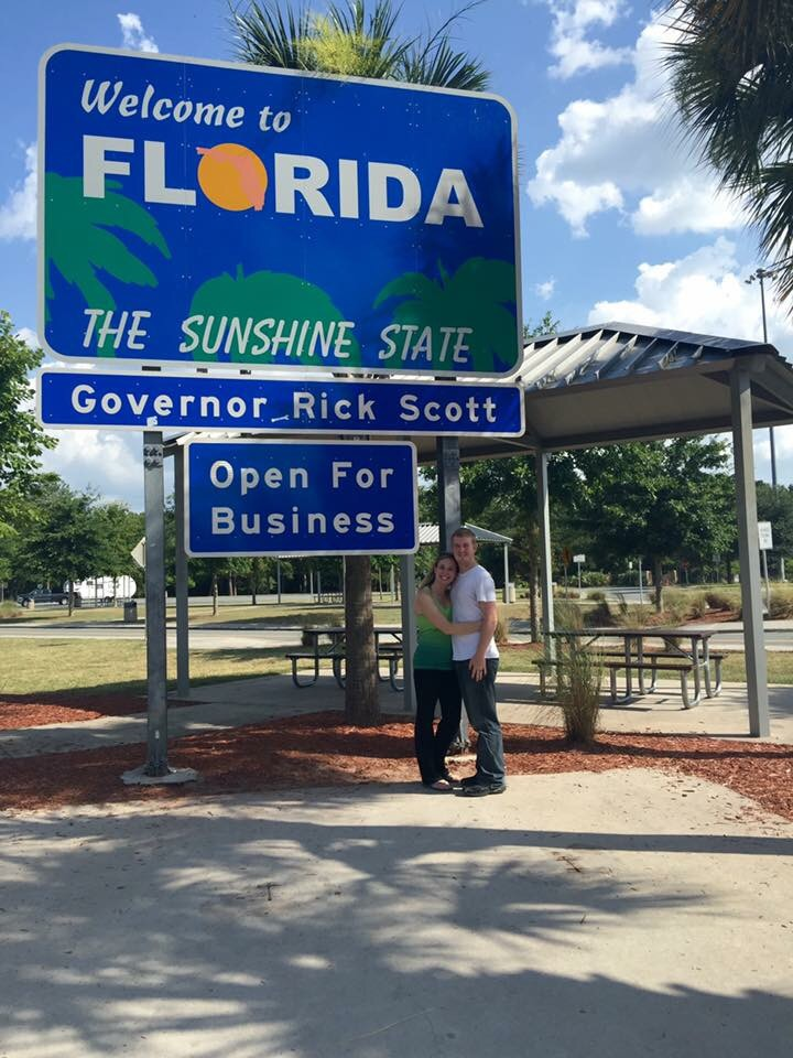 We made it to Florida! Thanks to my wonderful driver of a hubby! :)