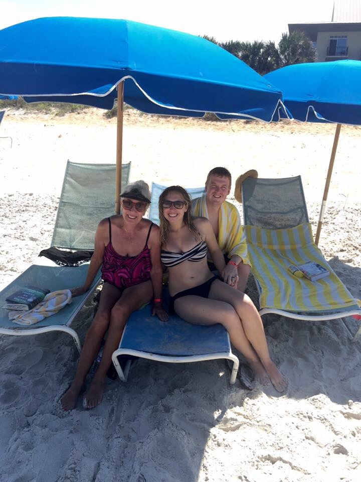 All of us at the beach! :)