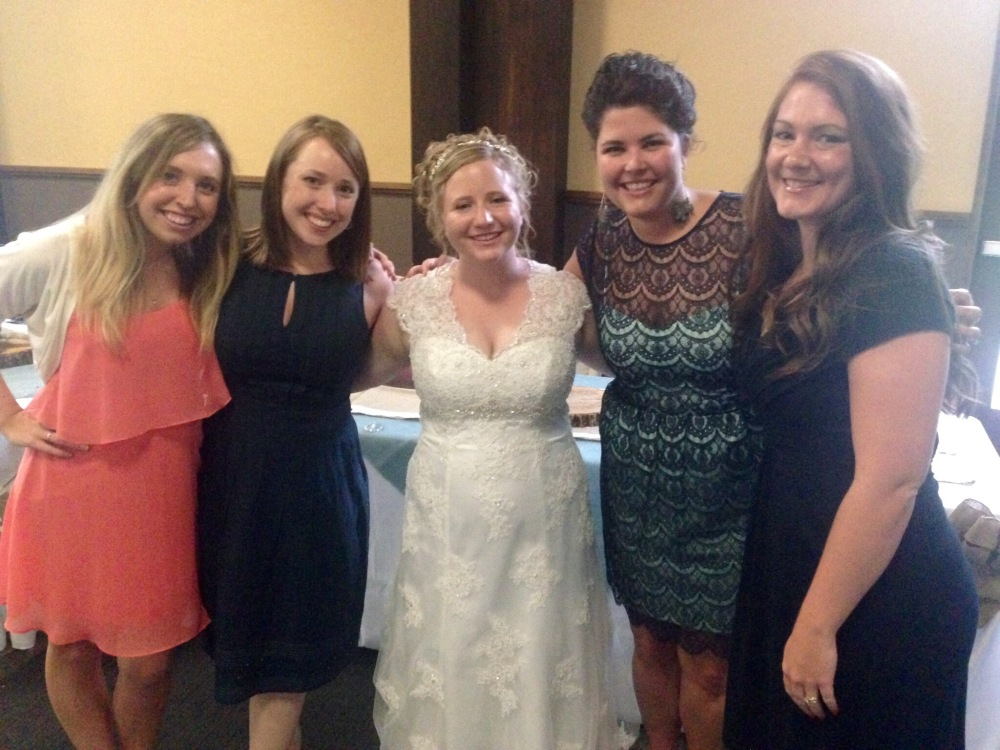 Some of the Lexington sisters with the beautiful bride!!