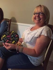 The Birthday Girl with her Birthday Popcorn!