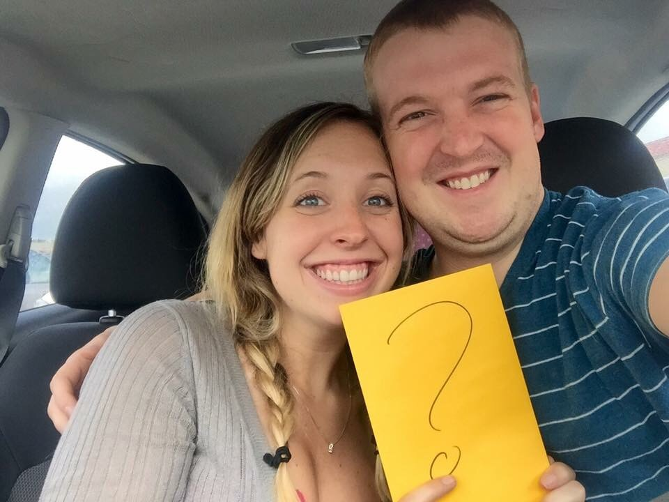 Our big yellow envelope of secrets!