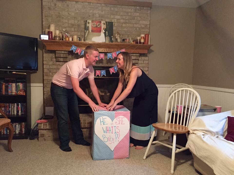 Getting ready to open the box and find out what our Sweet P is!!
