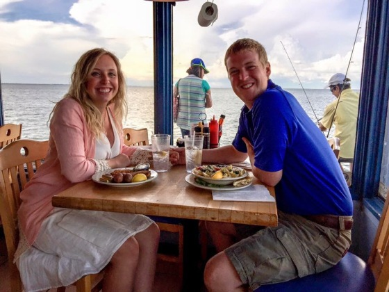 It was so much fun to sit and watch the fishermen and dolphins as we had dinner on the pier!