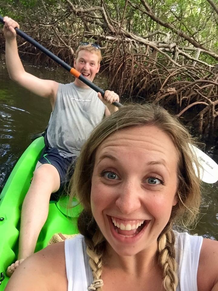 We took a Kayaking Tour through the Mangroves one morning and saw all types of wildlife, including Manatees! The guide said that they were attracted to Blair because of all the extra pregnancy hormones coursing through her body lol