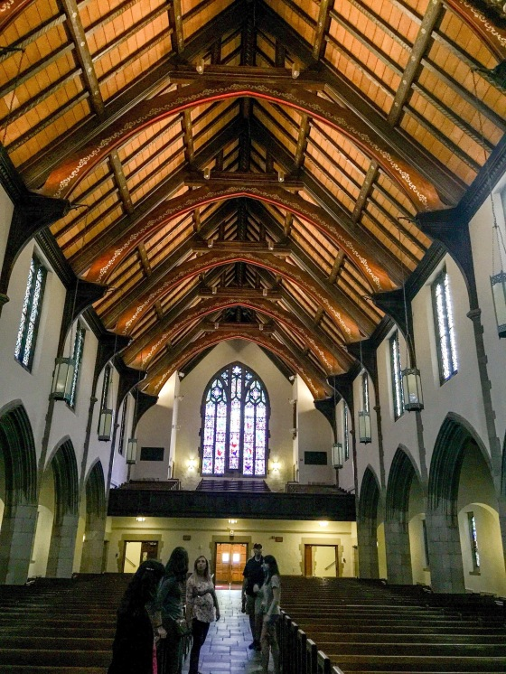 Inside the beautiful chapel!