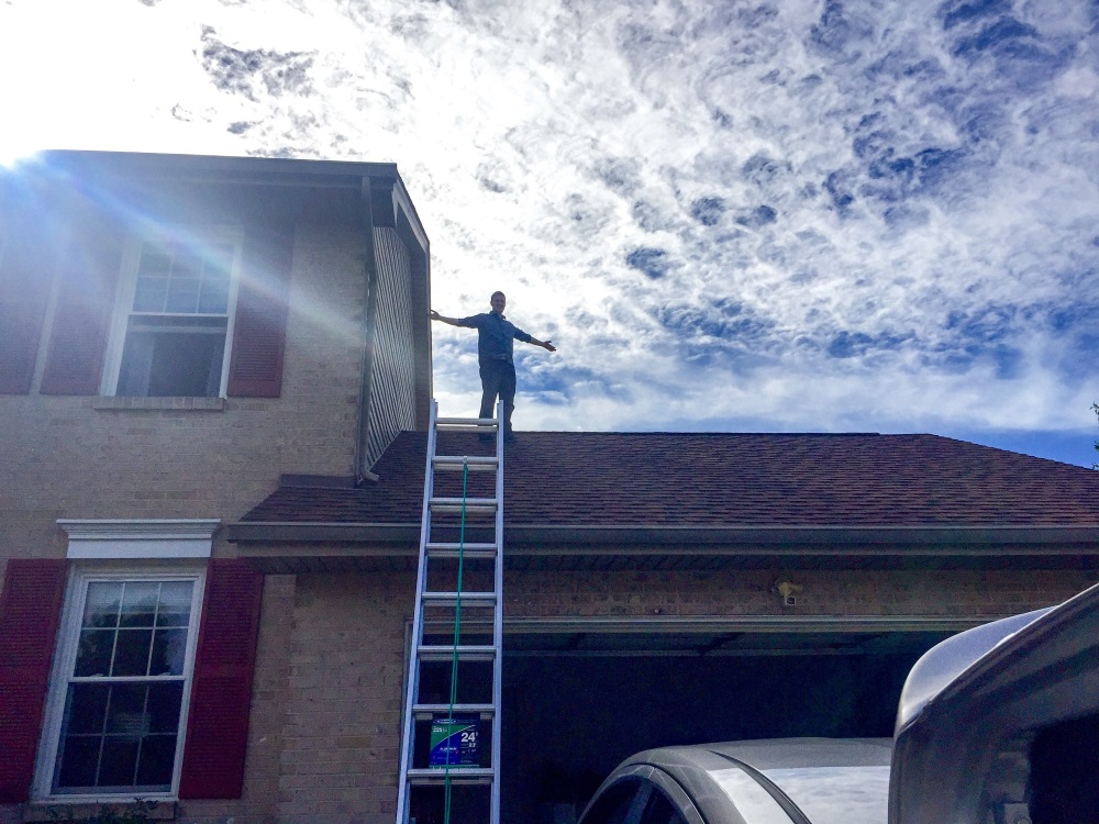Our newest homeowner addition - a ladder!! :)