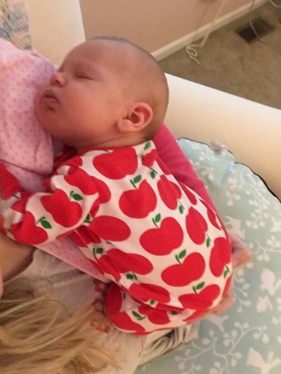 Our little snuggly Apple bottom girl