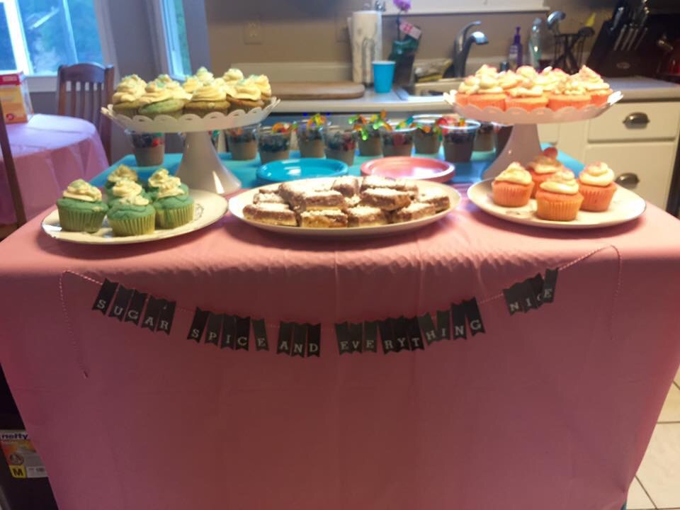 Sugar and Spice and Everything Nice - side if the desert table