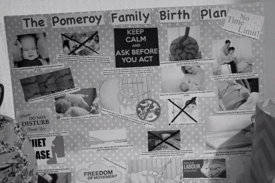 Our lovely birth board that was more of a decoration than anything else because we got to the hospital and it was game time lol :)