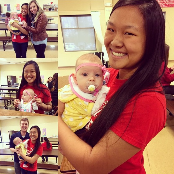 She also got to go to Momma and Daddy's alma mater and visit Aunt Kiki for lunch!