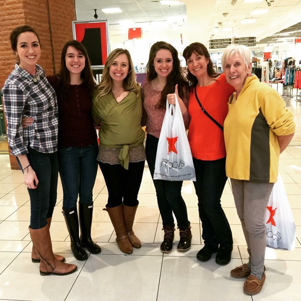 Out at Kenwood Mall with the girls!