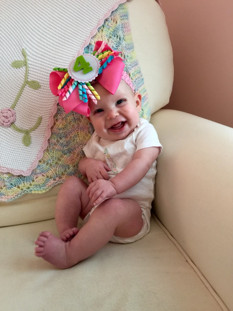 Happy 4 months Annabelle Jane Pomeroy! <3